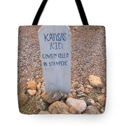 Kansa Kid Killed In A Stampede Tote Bag