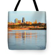 Kansas City Downtown From Kaw Point Tote Bag