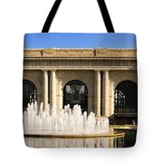 Kansas City Fountain At Union Station Tote Bag by Andee Design