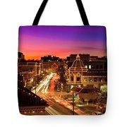 Kansas City Plaza Christmas Lights Skyline Tote Bag