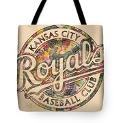 Kansas City Royals Logo Vintage Tote Bag