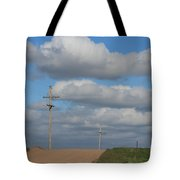 Kansas Country Road With Sky Tote Bag