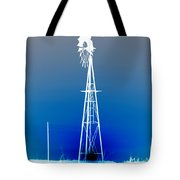 Kansas Country Windmill Inverted Negative Sunset Tote Bag