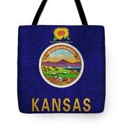Kansas State Flag Tote Bag by Pixel Chimp