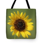 Kansas Wildsunflower With Green Background Tote Bag