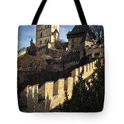 Karlstejn Castle Color Tote Bag