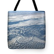 Karman Vortex Cloud Streets From Space Tote Bag