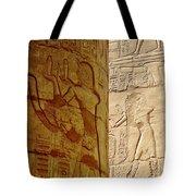 Karnak Temple Detail Tote Bag
