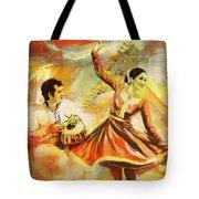 Kathak Dancer Tote Bag