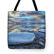 Kathleen Lake And Mount Worthington Tote Bag