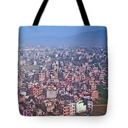 Kathmandu From The Airplane-nepal  Tote Bag
