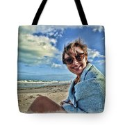 Katie And The Beach Tote Bag
