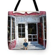 Katie At Bass Harbor Maine Tote Bag by Lee Piper