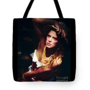 Katie White Hat Tote Bag