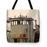 Katrina Ghost Boat And Pelicans Tote Bag