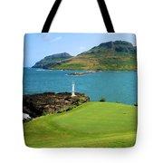 Hokuala - Ocean Course - Hole 16 Tote Bag