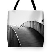 Kauffman Center Black And White Curves Photography Tote Bag