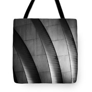 Kauffman Performing Arts Center Black And White Tote Bag