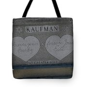 Kaufman Grave No Greater Love Tote Bag