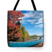 Kayak Boat During Sunny Day  Tote Bag