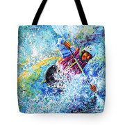 Kayak Crush Tote Bag by Hanne Lore Koehler