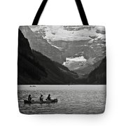 Kayak On Lake Louise Tote Bag