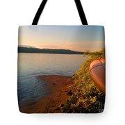 Kayak On The Hudson Tote Bag