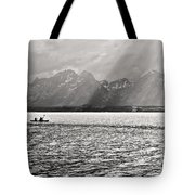 Kayakers On Jackson Lake Tote Bag