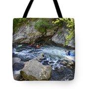 Kayaking Baby Falls Tote Bag