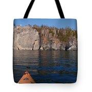 Kayaking Beneath The Light Tote Bag
