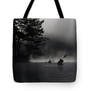 Kayaking In The Fog Tote Bag