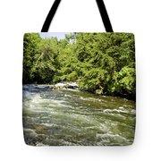 Kayaking On Gull River Tote Bag