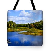 Kayaking The Moose River - Old Forge New York Tote Bag by David Patterson