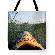 Kayaking Through Reeds Bwca Tote Bag