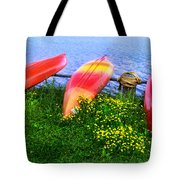 Kayaks At Lake Galena Tote Bag