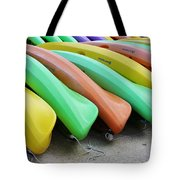 Kayaks In A Row Tote Bag