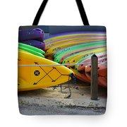 Kayaks Stacked Tote Bag