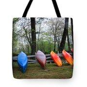 Kayaks Waiting Tote Bag by Michael Mooney