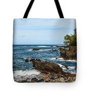 Keanae Coast - The Rugged Volcanic Coast Of The Keanae Peninsula In Maui. Tote Bag