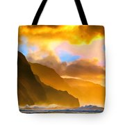 Ke'e Beach Sunset Tote Bag
