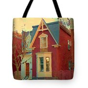 Keep A Light In The Window Til I Come Home Again Winter House Pointe St Charles City Scene Cspandau  Tote Bag