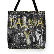 Keep Calm And Carry On Spanish Tote Bag