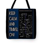 Keep Calm And Travel On Nova Scotia Crosswords Tote Bag