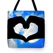 Keep Your Heart In The Clouds Tote Bag
