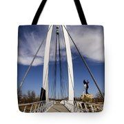 Keeper Of The Plains Bridge View Tote Bag