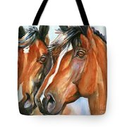 Horse Painting Keeping Watch Tote Bag