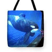 Keiko The Killer Whale Oregon Coast Aquarium Pat Hathaway Photo  1996 Tote Bag