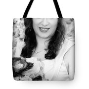 Keira In Black And White Tote Bag