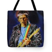 Keith Richards Of Rolling Stones Tote Bag