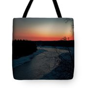 Kenai River Sunrise Tote Bag